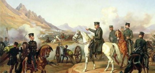 Zachary Taylor leads outnumbered American troops into battle at Buena Vista. Photo Courtesy of Wikimedia