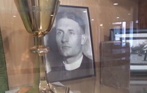 Fr. Emil Kapaun relic cases at Kapaun Mt. Carmel explained