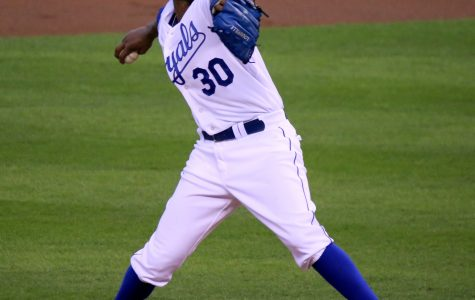 Delivering to the plate, former Kansas City Royal pitcher Yordano Ventura pitches against the Houston Astros Oct. 8, 2015, a game they lost 5-2. Ventura died suddenly Jan. 22 in a car accident in the Dominican Republic.