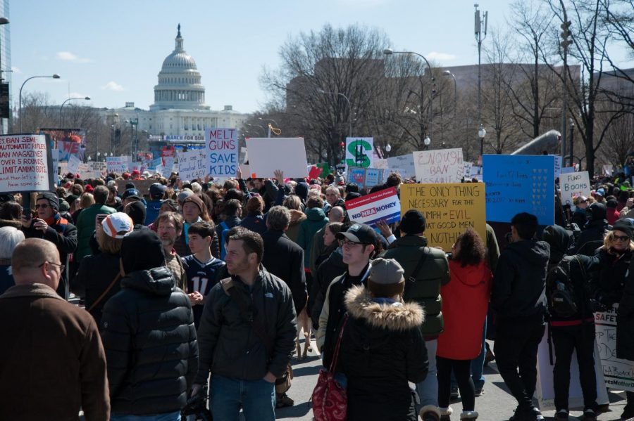 Protesters+take+to+D.C.+to+protest+gun+violence+and+call+for+gun+control+laws.+The+March+took+place+on+Mar.+24.+Photo+courtesy+of+Wikimedia+Commons+