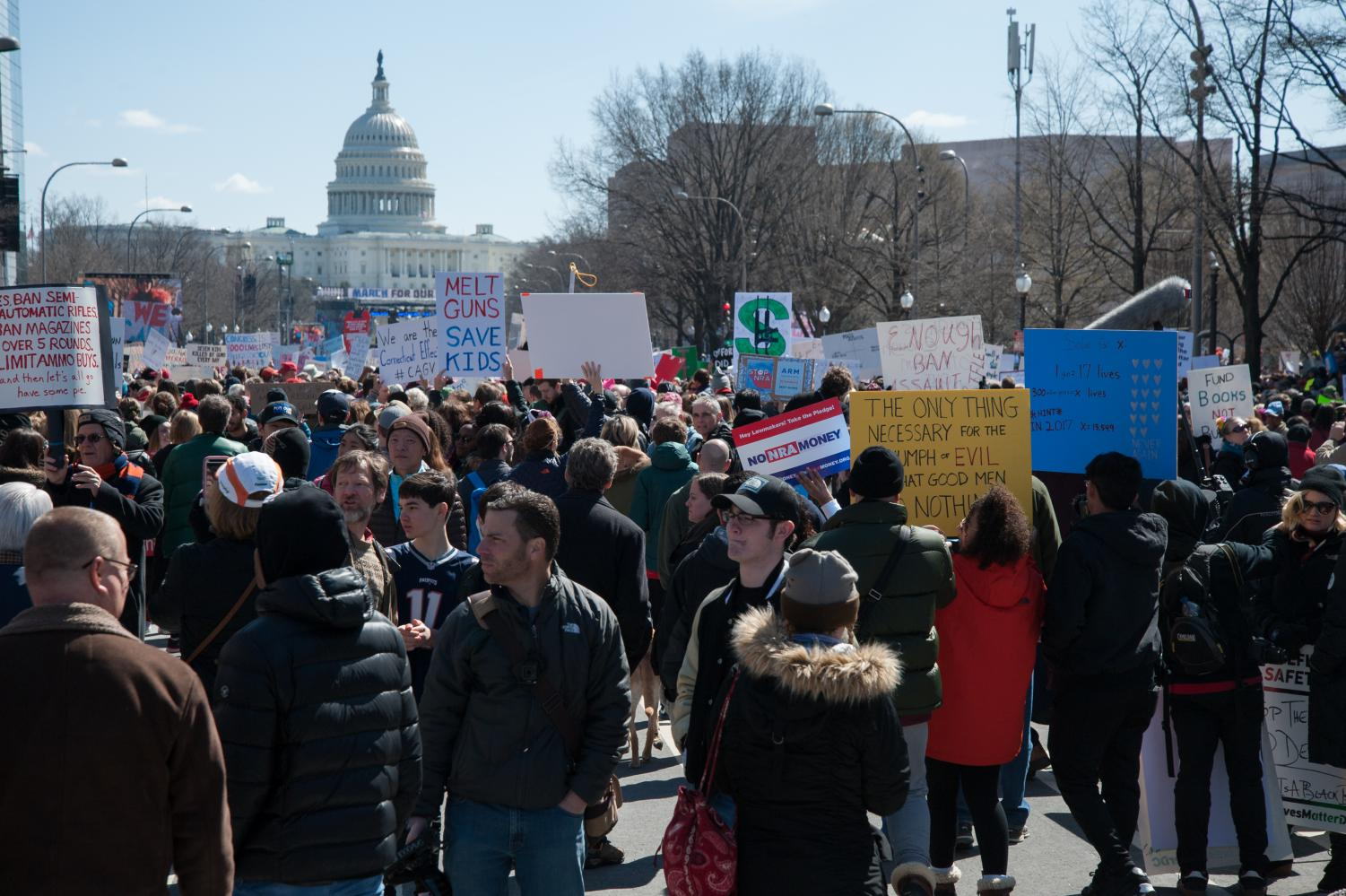Protesters take to D.C. to protest gun violence and call for gun control laws. The March took place on Mar. 24. Photo courtesy of Wikimedia Commons