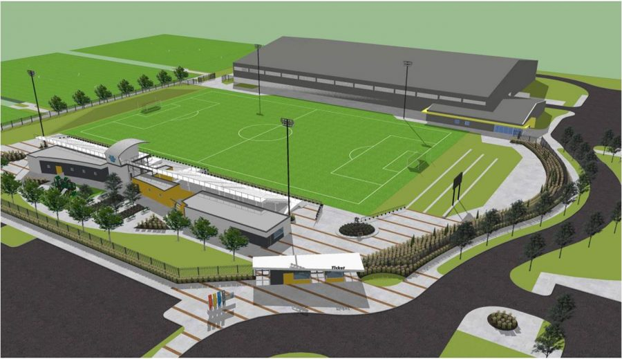 Located at K-96 and Greenwich, the new Stryker Complex will feature a main turf field, expanded seating, and an indoor field facility. The complex is projected to be finished for the girls season.