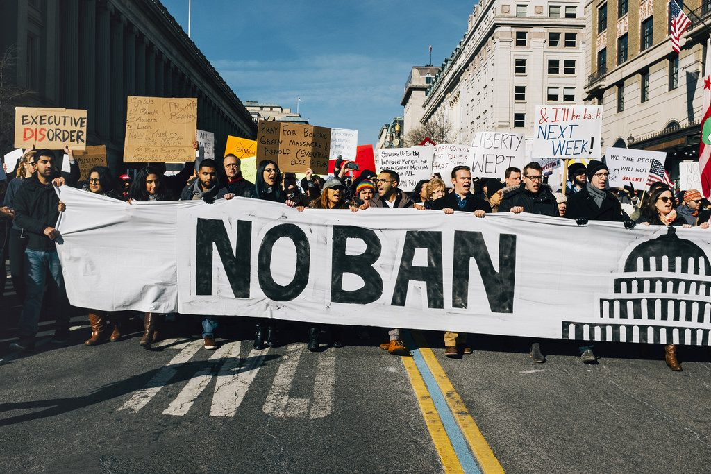 List of protests against Executive Order 13769