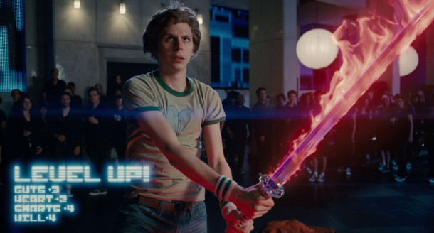 Scott+Pilgrim+%28portrayed+by+Michael+Cera%29+gaining+%22The+Power+of+Love%22+during+the+final+battle+of+%22Scott+Pilgrim+Vs.+The+World%22+in+%22The+Chaos+Theater%22.+He+prepares+to+defeat+the+final+member+of+the+%22League+of+Evil+Exes%22.+Image+courtesy+of+filmicmag.com