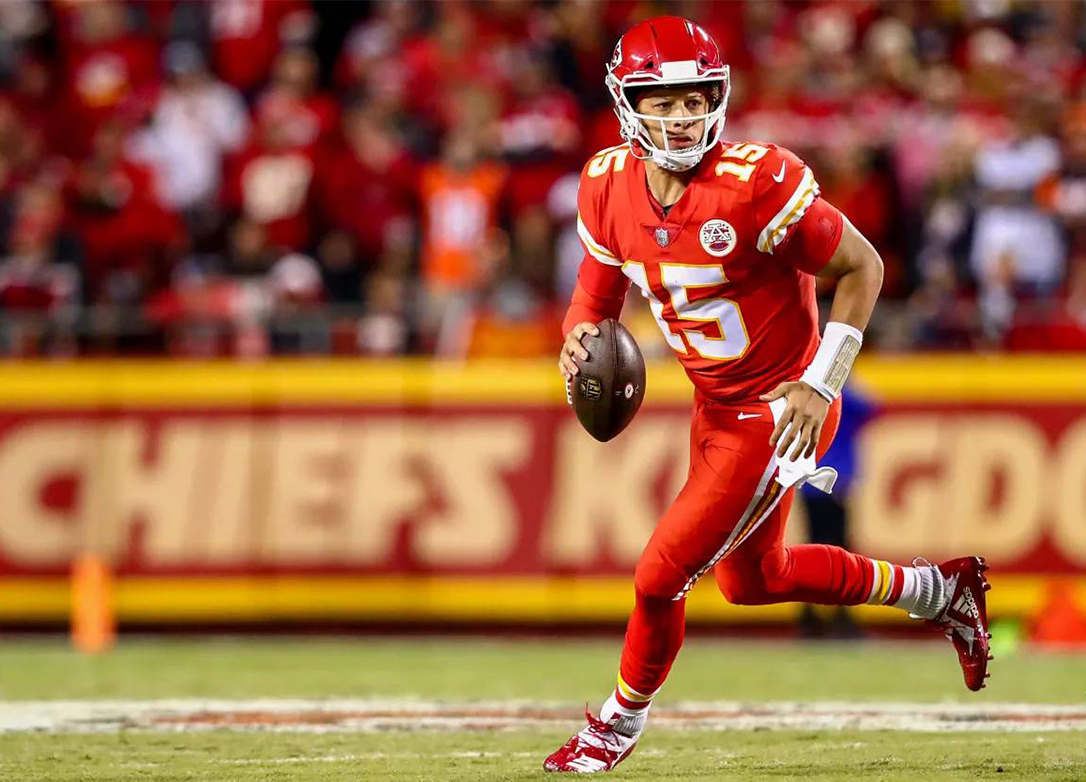 Leading the Chiefs to a 7-1 record, second-year quarterback Patrick Mahomes has thrown for over 300 yards per game plus 26 touchdowns and only 5 interceptions. He has the beginnings of an excellent career in the NFL.