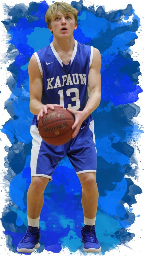 Now+in+his+sophomore+year%2C+starting+guard+Grant+Johnson+is+a+perfect+example+of+the+youth+leading+the+boys+basketball+team.+He+is+pictured+here+shooting+free+throws+in+a+40-26+loss+at+Heights+Dec.+4.+Johnson+said+the+team%27s+chemistry+may+make+up+for+its+inexperience.